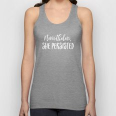 Nevertheless, She Persisted (Text Only) Unisex Tank Top