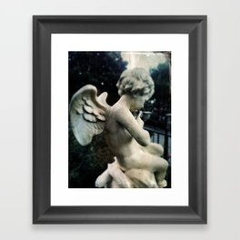 Angel New Orleans Square by Topher Adam 2017 Framed Art Print