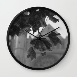 Grace Cathedral Summer Leaves Wall Clock