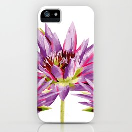 Violet Lotos - Lotus Water Lilies Flowers I iPhone Case