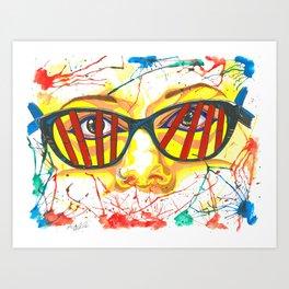 Orphan Black - Cosima DNA Glasses (Original Artwork Print) Art Print