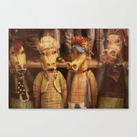 dragons Canvas Prints featuring DRAGONS by Logram