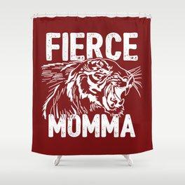 Fierce Momma / Red Shower Curtain