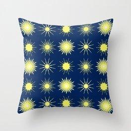 Dark and Starry Night. Throw Pillow