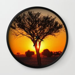 Day starts in Africa Wall Clock
