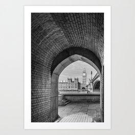 Big ben and bridge Art Print