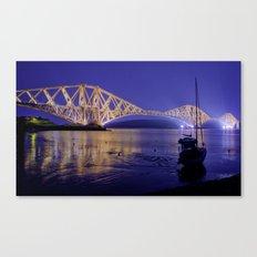 Forth Road Bridge, a study in blue Canvas Print