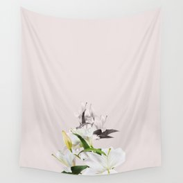 Tropical White Flowers #society6 #decor #buyart Wall Tapestry