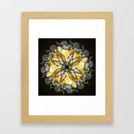 Flemish Floral Mandala 5 Framed Art Print