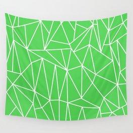 Geometric Cobweb (White & Green Pattern) Wall Tapestry