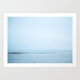 Blue Day Wave Art Print