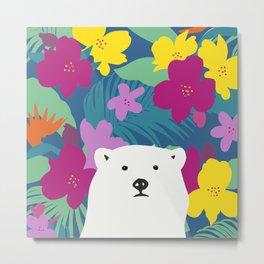 Ghoost bear Metal Print