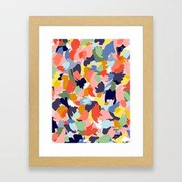 Bright Paint Blobs Framed Art Print