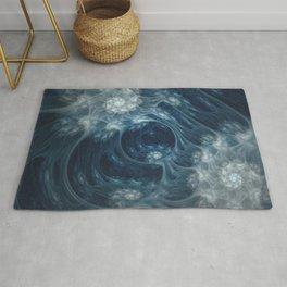 Frozen Underground. Digital Abstract Art  Rug