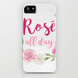 Rose All Day - White Wood iPhone Case