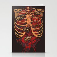 study Stationery Cards featuring Anatomical Study - Day of the Dead Style by Steve Simpson