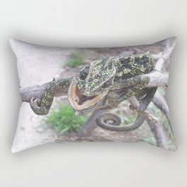 Colourful Chameleon Wrapped Around A Branch Rectangular Pillow