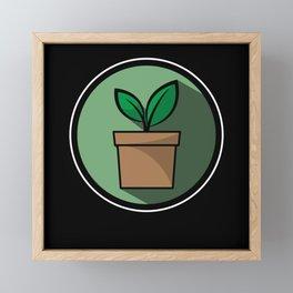 Gardener Gardening gift Flower For Earth Day Framed Mini Art Print
