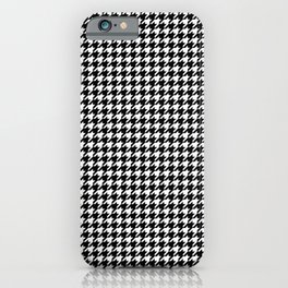 Black and White Mini Houndstooth Check iPhone Case