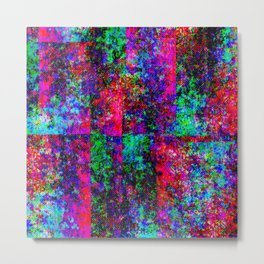 Neon Splash Jean Pattern Metal Print