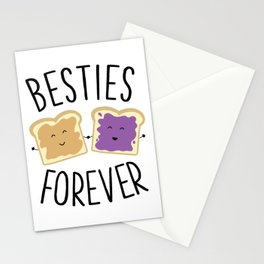 Cute Funny Peanut Butter Jelly Besties Forever Best Friends Stationery Cards