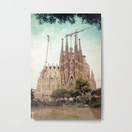 Sagrada Familia in Barcelona Metal Print