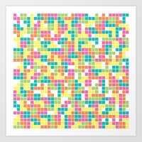 tetris Art Prints featuring Tetris by Alisa Galitsyna