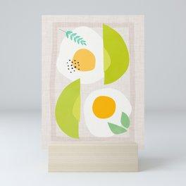 Minimalist Avocado and Eggs Mini Art Print