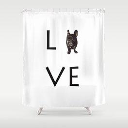 French Bulldog Love Art Print Shower Curtain