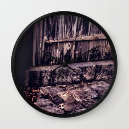 Wood and Stone Wall Clock