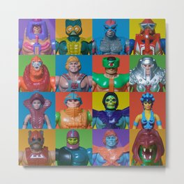 Action Figure Grid: Masters of the Universe Metal Print