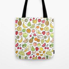 Juicy Fruits Doodle Tote Bag