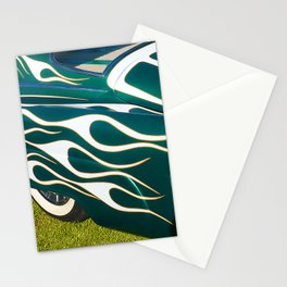 Classic Car Aflame with Flame Striping Stationery Cards