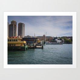 Sydney Ferries Art Print