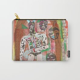 Haa wrestling man with horns and swords Carry-All Pouch