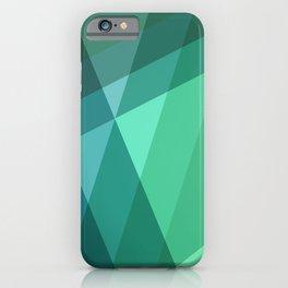 Fig. 046 Mint, Sea Green, Blue & Teal Geometric iPhone Case