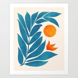 Garden Sunset II Art Print