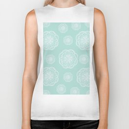 Mint Romantic Flower Mandala Pattern #2 #decor #art #society6 Biker Tank