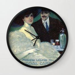 Vintage 1910 Campari Advertisement by Gian Emilio Malerba Wall Clock