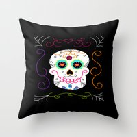 selena gomez Throw Pillows featuring Gomez by Designs By Misty Blue (Misty Lemons)
