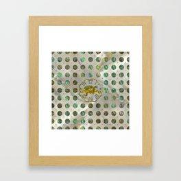 Golden Tortoise / Turtle Feng Shui Abalone Shell Framed Art Print