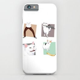4 horseman of apocalypse cat catto meme banana knife cat pants iPhone Case