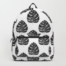 Monstera Leaf | Black and White Backpack