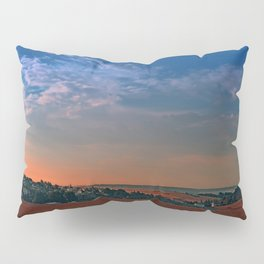 Small rural town skyline at sunrise II | landscape photography Pillow Sham