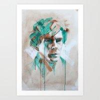 sherlock Art Prints featuring Sherlock by Dan Olivier-Argyle