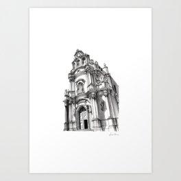 Chiesa di San Giuseppe - Ragusa Art Print
