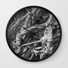 Abstract drift wood Wall Clock