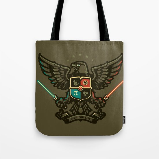 Geek For Life Tote Bag