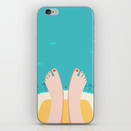Feet on Beach iPhone Skin