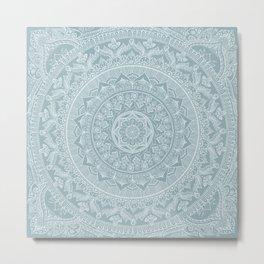 Mandala - Soft turquoise Metal Print